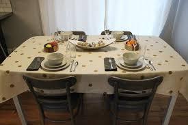 gold polka dot table cover diy polka dot tablecloth for thanksgiving dinner