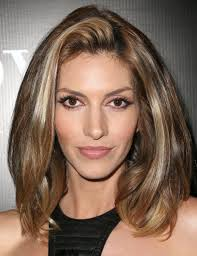 medium length hairstyles for square faces pictures thick hair