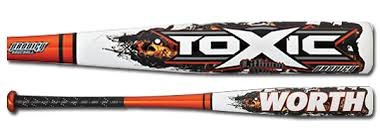 worth bats 2012 worth toxic prodigy bbcor baseball bat abpbc minus 3 free