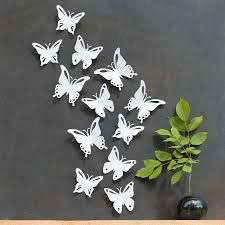 20 The Best White 3D Butterfly Wall Art