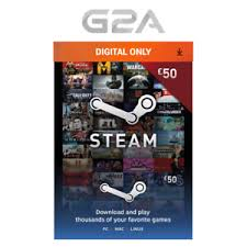 steam card 50 steam gift card 50 gbp pounds uk steam wallet digital