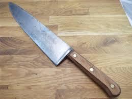 carbon kitchen knives vtg heavy chef lobster splitter razor sharp carbon steel 12 clyde