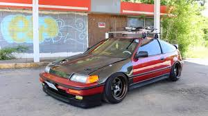 slammed honda crx lin u0027s all motor crx youtube