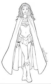 superwoman coloring pages to print 9335