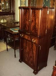antique mahogany empire liquor cabinet bar from
