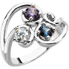 3 mothers ring silver flowing three mothers ring