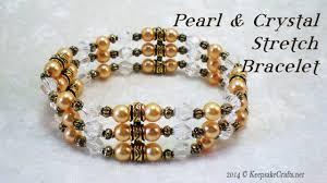 pearl bracelet elastic images Pearl crystal stretch bracelet tutorial jpg