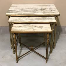 marble top nesting tables vintage neoclassical nesting tables www claudiacollections com