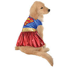 Supergirl Halloween Costume Pet Halloween Costumes Dog Costumes Kmart