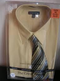 knightsbridge mens dress shirt and tie set tan 19 99 mic u0027s