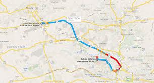 San Jose Costa Rica Map by Transportation San Jose Airport Sjo To Pavas Airport Syq