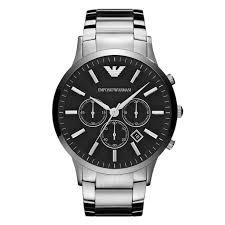armani watches bracelet images Emporio armani men 39 s stainless steel bracelet watch ernest jones