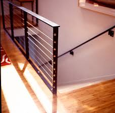 Wire Banister Wire Rail Modern Staircase San Francisco By Five Twenty