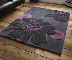 Modern Purple Rugs Modern Purple Aubergine Plum Colour Rugs In Large Small Medium