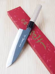japanese santoku knife yoshihiro kurouchi serie white steel
