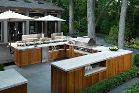 outdoor kitchen pictures design ideas wooden cabinet with granite countertops and built in grill for
