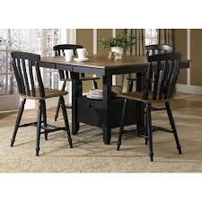 counter height gathering table al fresco ii driftwood and black gathering table liberty furniture