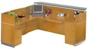 L Shaped Reception Desks Mayline Nrslff Napoli L Shaped Reception Desk With 2 Drawer