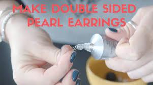 sided earrings make sided earrings diy