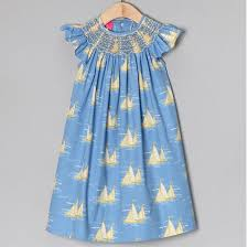 blue yellow sailboat baby smocked thanksgiving dresses buy