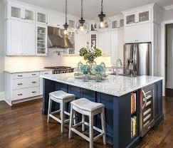 blue kitchen island antique white kitchen island with butcher block top 17 best images