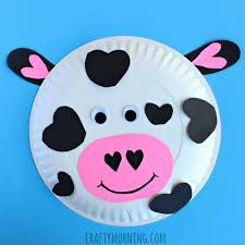 paper plate cow valentine craft for kids u2013 crafty morning