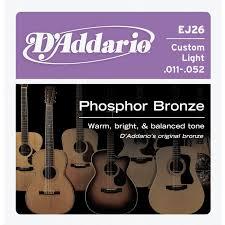 d addario ej26 phosphor bronze acoustic guitar strings custom