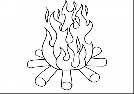 free printable dragon coloring pages for kids in flame page