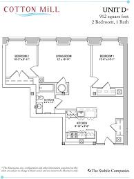 unit d 2 bedroom 1 bath 912 sq ft
