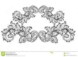 vintage baroque frame scroll ornament vector stock vector image