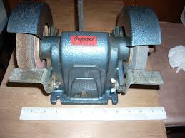 vintage general double grinding wheel table bench top electric