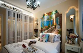 Bed Back Wall Design Mediterranean Bedroom Bed Back Wall Decoration Ideas 3d House