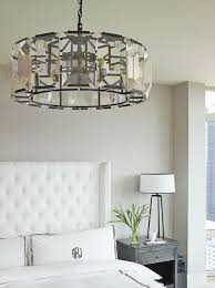 master bedroom lighting ideas a contemporary crystal chandelier