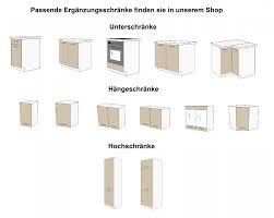 einzelschränke küche küche dave 240 cm küchenzeile küchenblock variabel stellbar in