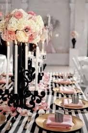 Black And White Striped Table Cloth Wedding Ideas Striped Weddbook