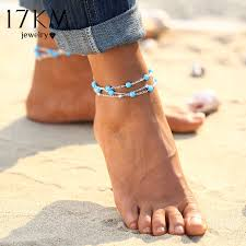 ankle bracelet with images 17km 1pcs multiple vintage anklets for women bohemian ankle jpg