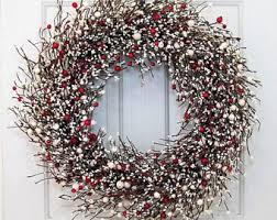 fireplace wreaths etsy