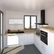plan de cuisine en bois cuisine blanche mate et contemporaine ambiance scandinave avec
