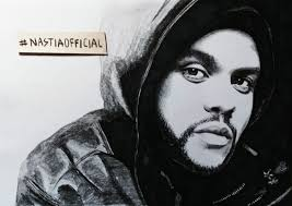 portrait of the weeknd by nastiaofficial on stars portraits 1