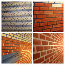 make your fake brick wall just by using blue tape and paint my