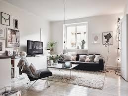 salon avec canapé noir 1001 photos et conseils damnagement dun salon scandinave concernant
