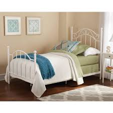 bed u0026 bedding mainstays white wrought iron twin size bed with