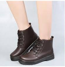 womens boots for flat genuine leather boots 2017 autumn winter fashion