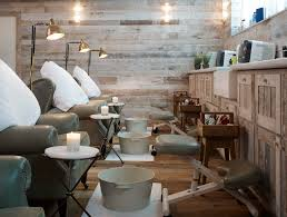 Rustic Interiors by Cowshed Spa In Chicago Has A Cozy Chic Rustic Interior Retail At