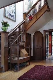 Victorian Banister Sparkling Bench For Foyer Designing Tips With Beige Wall Off Site