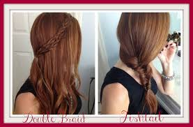 hair styles quick easy double braid fishtail keeping medium hair