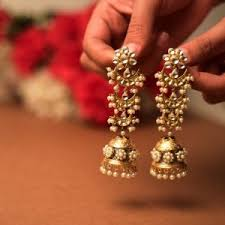 pachi earrings earrings pachi kundan earrings online shopping for earrings