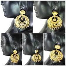 beautiful gold earrings chaand bali earrings set gold plated beautiful 5 ethnic designs
