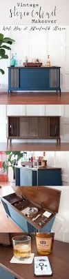 vintage kitchen cabinet makeover vintage stereo cabinet makeover with bluetooth and bar