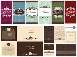 wedding invitations vector decorative ornate wedding invitations vector vector graphics